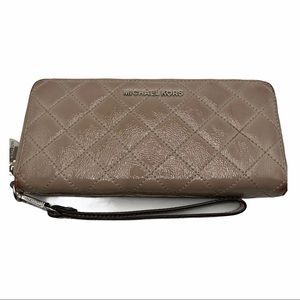 Michael Kors Quilted Leather Zip Long Wallet